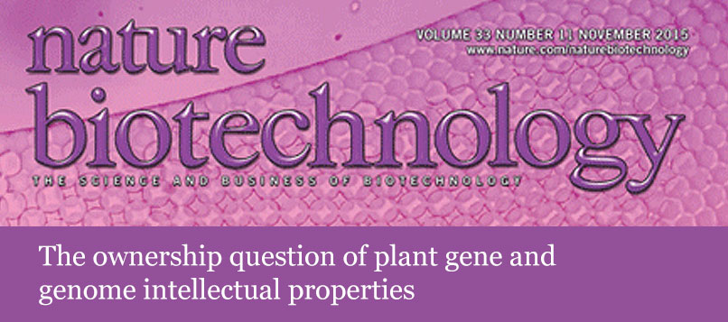 The ownership question of plant gene and genome intellectual properties